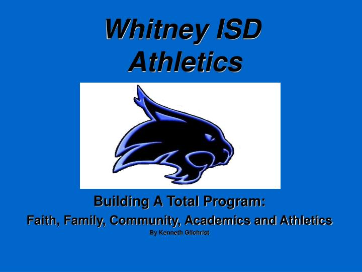 Whitney isd athletics