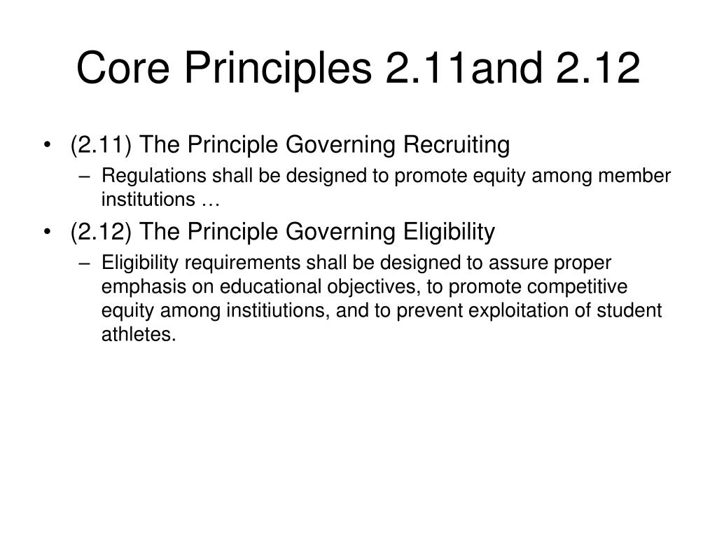 Core Principles 2.11and 2.12