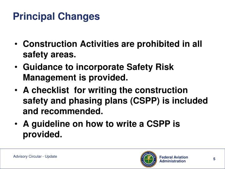 Principal Changes