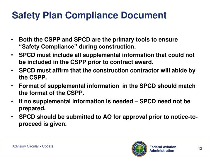 Safety Plan Compliance Document