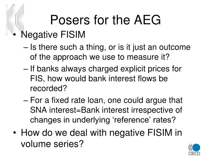 Posers for the AEG