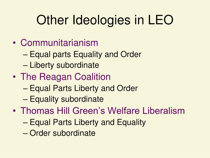 Other Ideologies in LEO