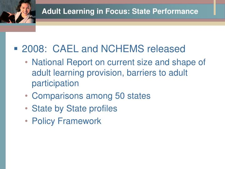 Adult Learning in Focus: State Performance