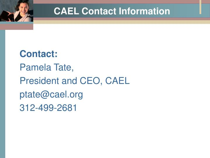 CAEL Contact Information
