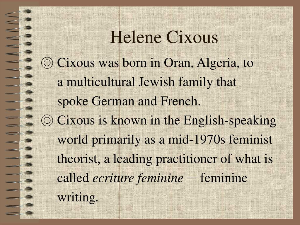 ecriture feminine