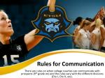 rules for communication