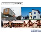 modular buildings products