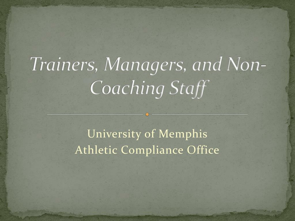 trainers managers and non coaching staff l.