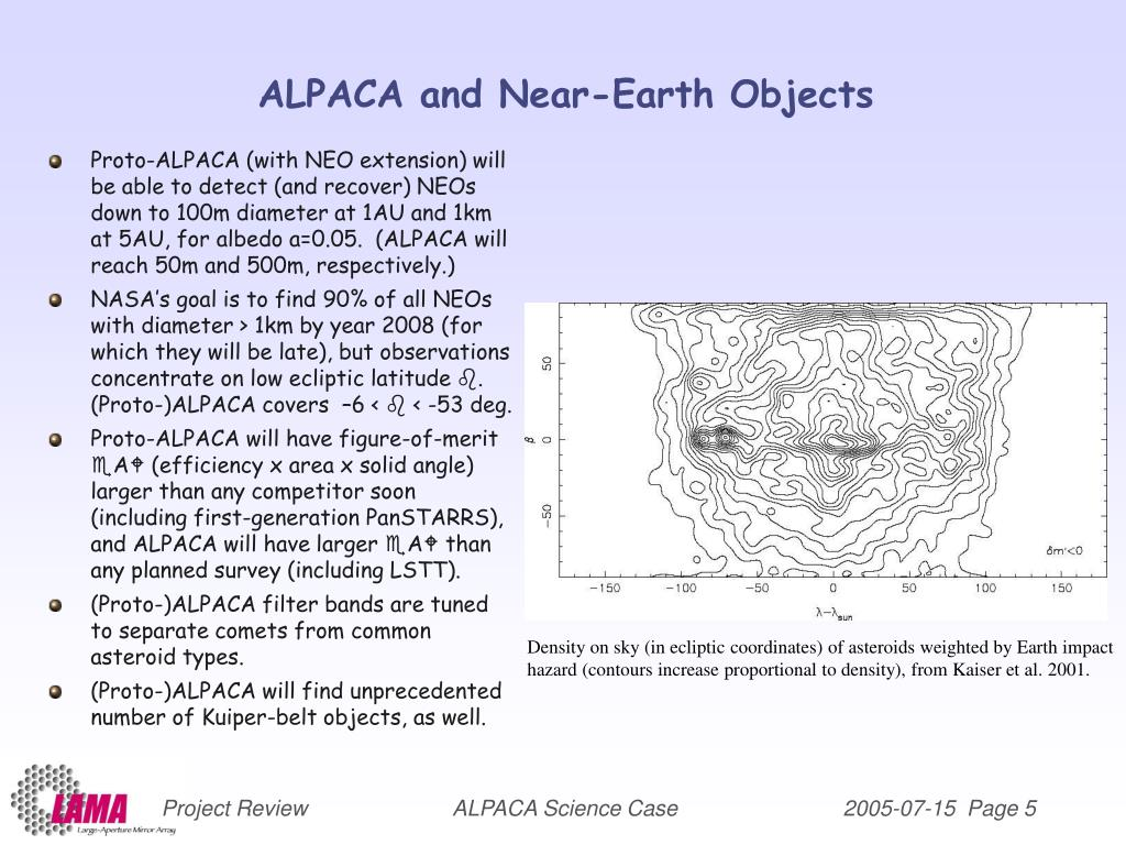 ALPACA and Near-Earth Objects