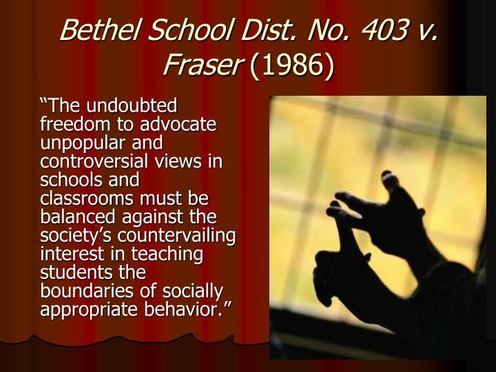 Bethel School Dist. No. 403 v. Fraser