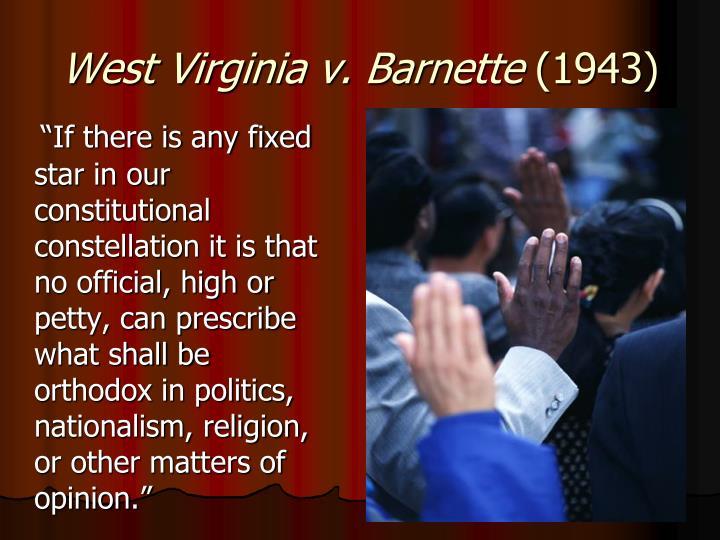 West Virginia v. Barnette