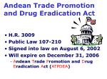 andean trade promotion and drug eradication act