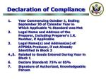 declaration of compliance27