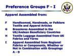 preference groups f i