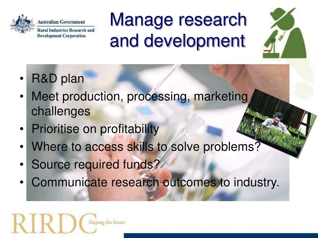 Manage research