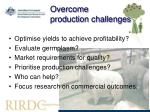 overcome production challenges