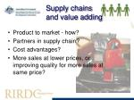 supply chains and value adding