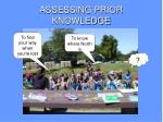 assessing prior knowledge5