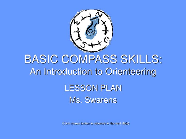 Basic compass skills an introduction to orienteering