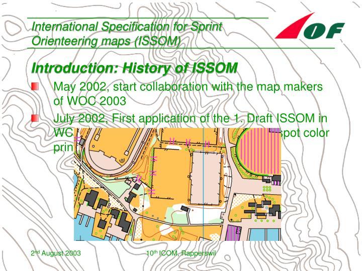 International specification for sprint orienteering maps issom3
