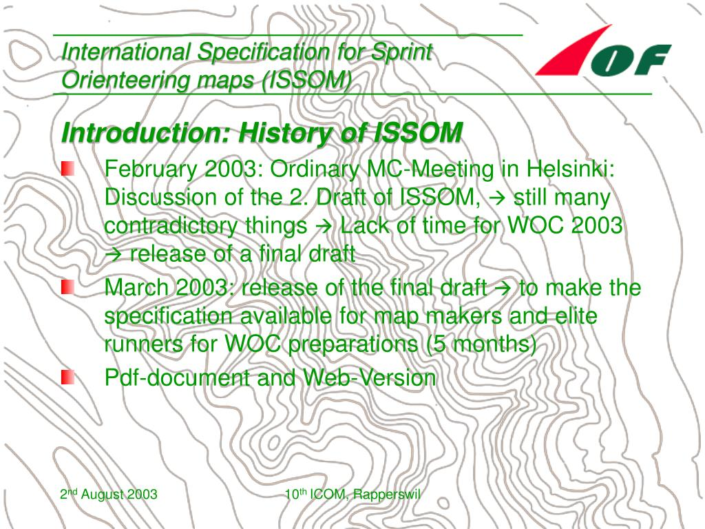 International Specification for Sprint