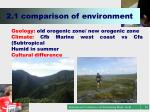 2 1 comparison of environment