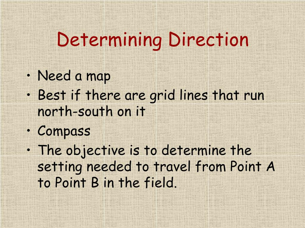 Determining Direction