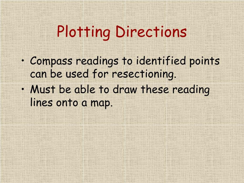 Plotting Directions