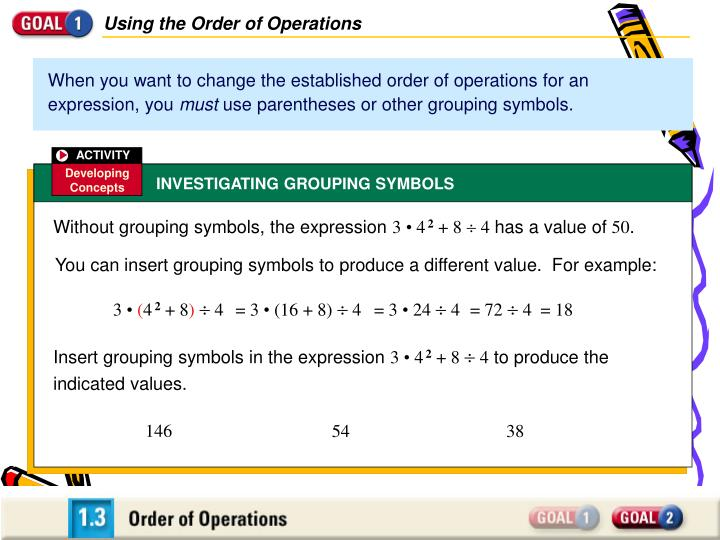 Ppt Using The Order Of Operations Powerpoint Presentation Id1046736