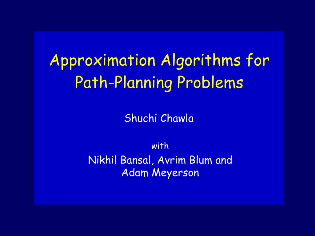 Approximation Algorithms for