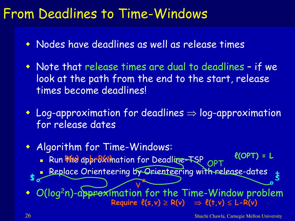 From Deadlines to Time-Windows