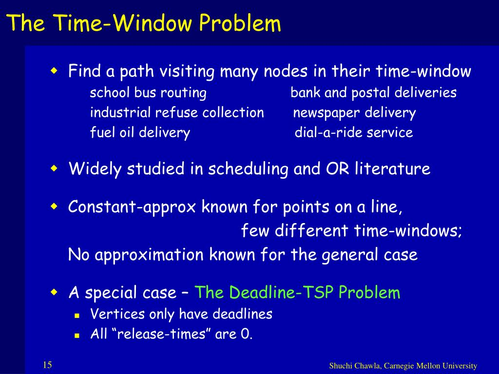 The Time-Window Problem