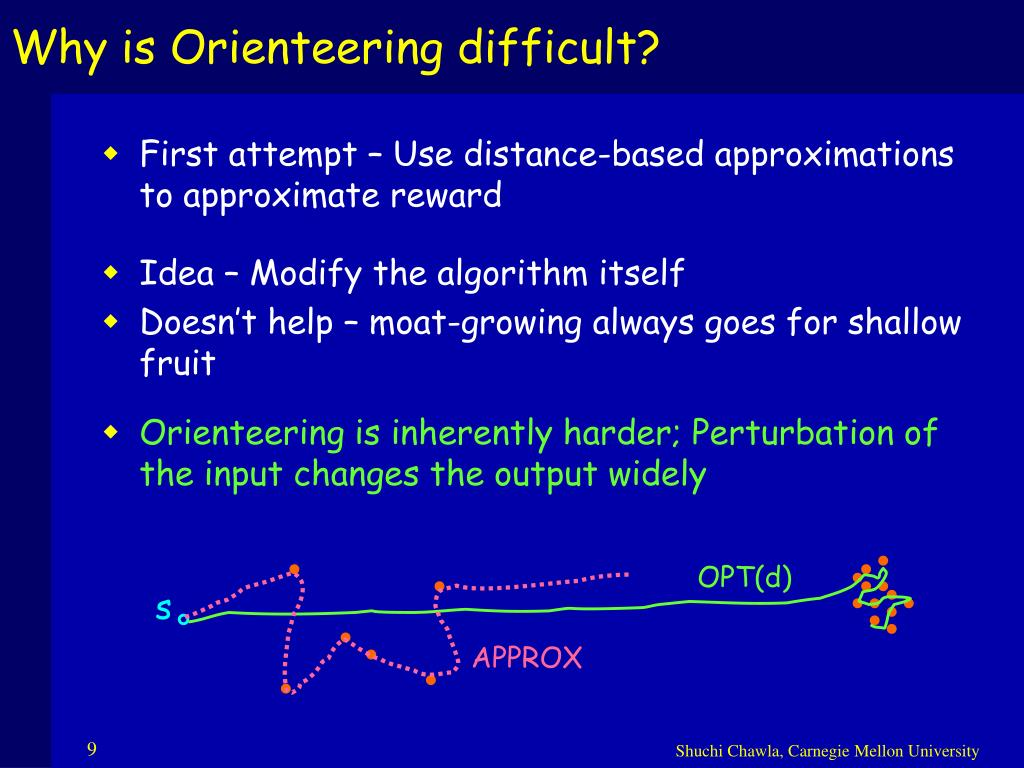 Why is Orienteering difficult?