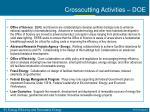 crosscutting activities doe