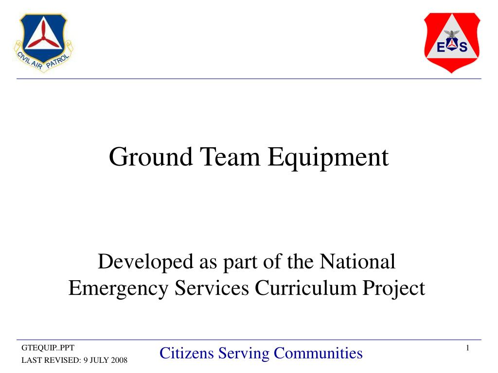 Ground Team Equipment