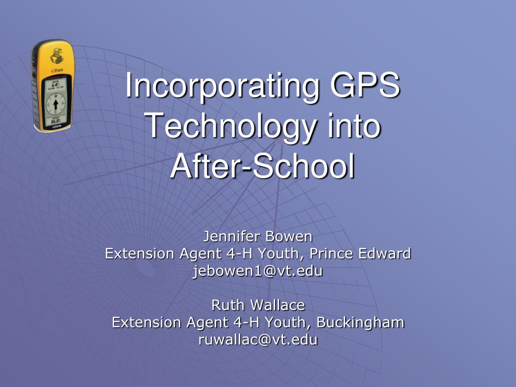 incorporating gps technology into after school l.