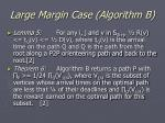 large margin case algorithm b29