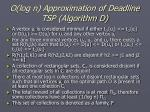 o log n approximation of deadline tsp algorithm d35