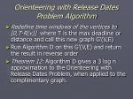 orienteering with release dates problem algorithm