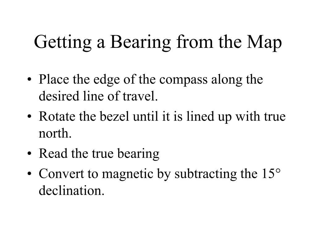 Getting a Bearing from the Map