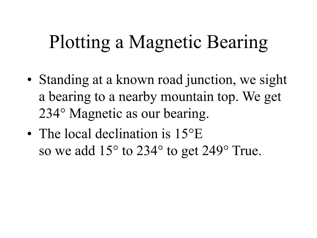Plotting a Magnetic Bearing