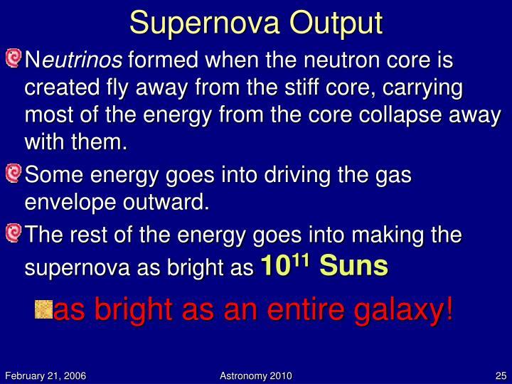 Supernova Output