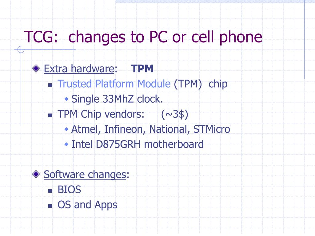 PPT - TCG: Trusted Computing Group PowerPoint Presentation