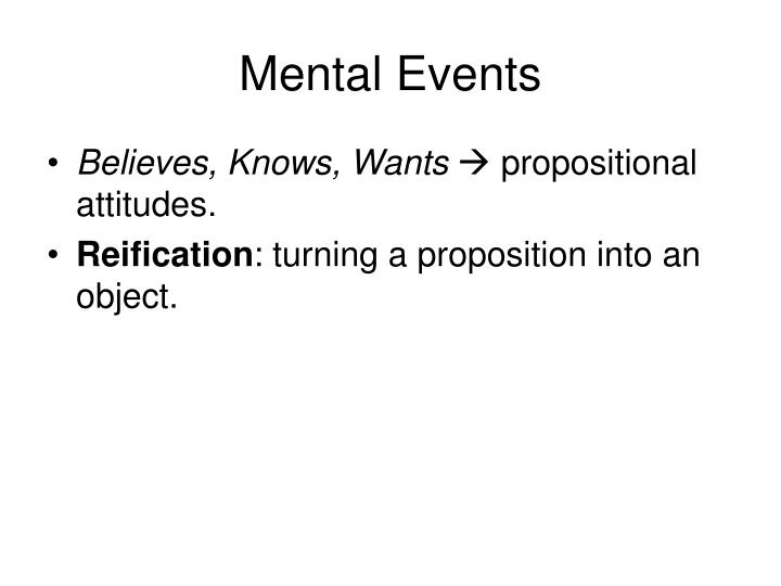 Mental Events