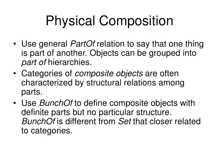 Physical Composition