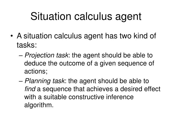 Situation calculus agent