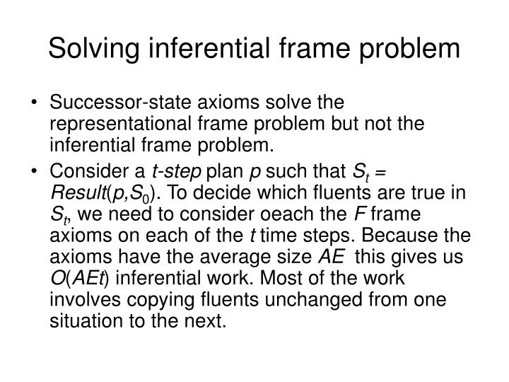 Solving inferential frame problem