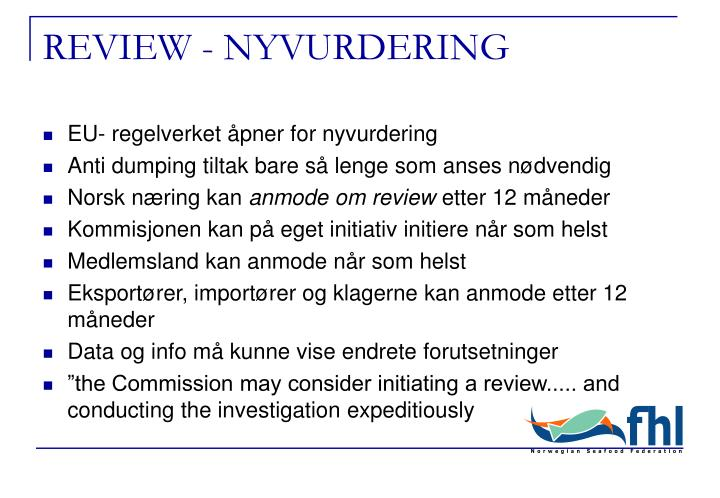 REVIEW - NYVURDERING