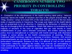 cameroon s number two priority in controlling tobacco