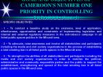 goal and objectives of cameroon s number one priority in controlling tobacco cont 1